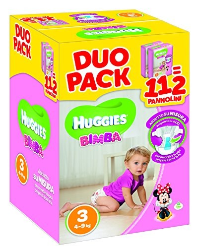 Duo Pack - Pannolini Bimba Taglia 3 (4-9 kg)