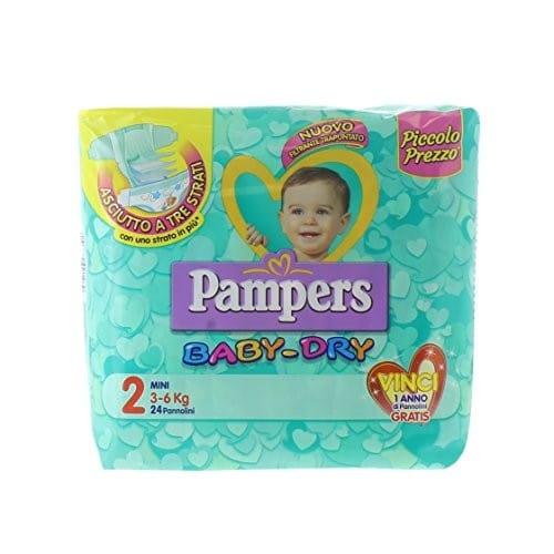 Pannolini Baby Dry Taglia 2 Mini (3-6 kg)