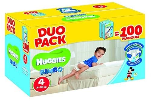 Duo Pack - Pannolini Bimbo Taglia 4 (7-18 kg)