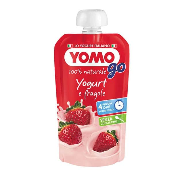 Yomo Go Yogurt e Fragole