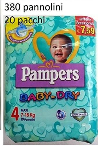 Pannolini Baby Dry Taglia 4 Maxi (7-18 kg) - Multipack da 380 Pannolini 20