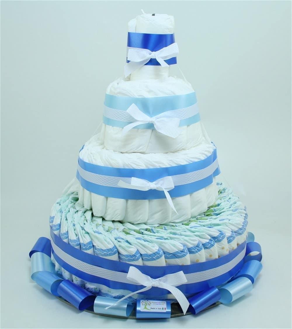 Torta di Pannolini Chicco 4 Piani Azzurra