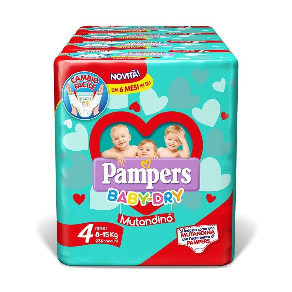 Pannolini Mutandino Baby Dry Taglia 4 Maxi (8-15 kg)
