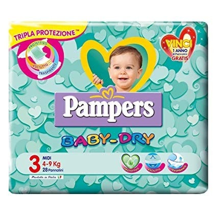 Pannolini Baby Dry Taglia 3 Midi (4-9 kg)