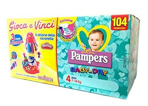 Pannolini Baby Dry Taglia 4 Maxi (7-18 kg) - Quadripack da 104 Pannolini 20