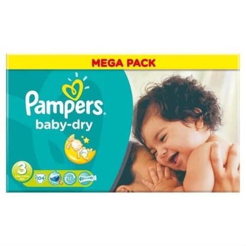 Pannolini Baby Dry Taglia 3 Midi (4-9 kg) - Mega Pack
