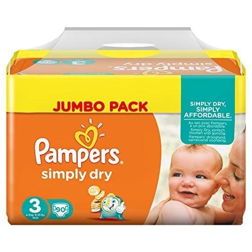 Pannolini Simply Dry Taglia 3 (4-9 Kg) - Confezione Maxi