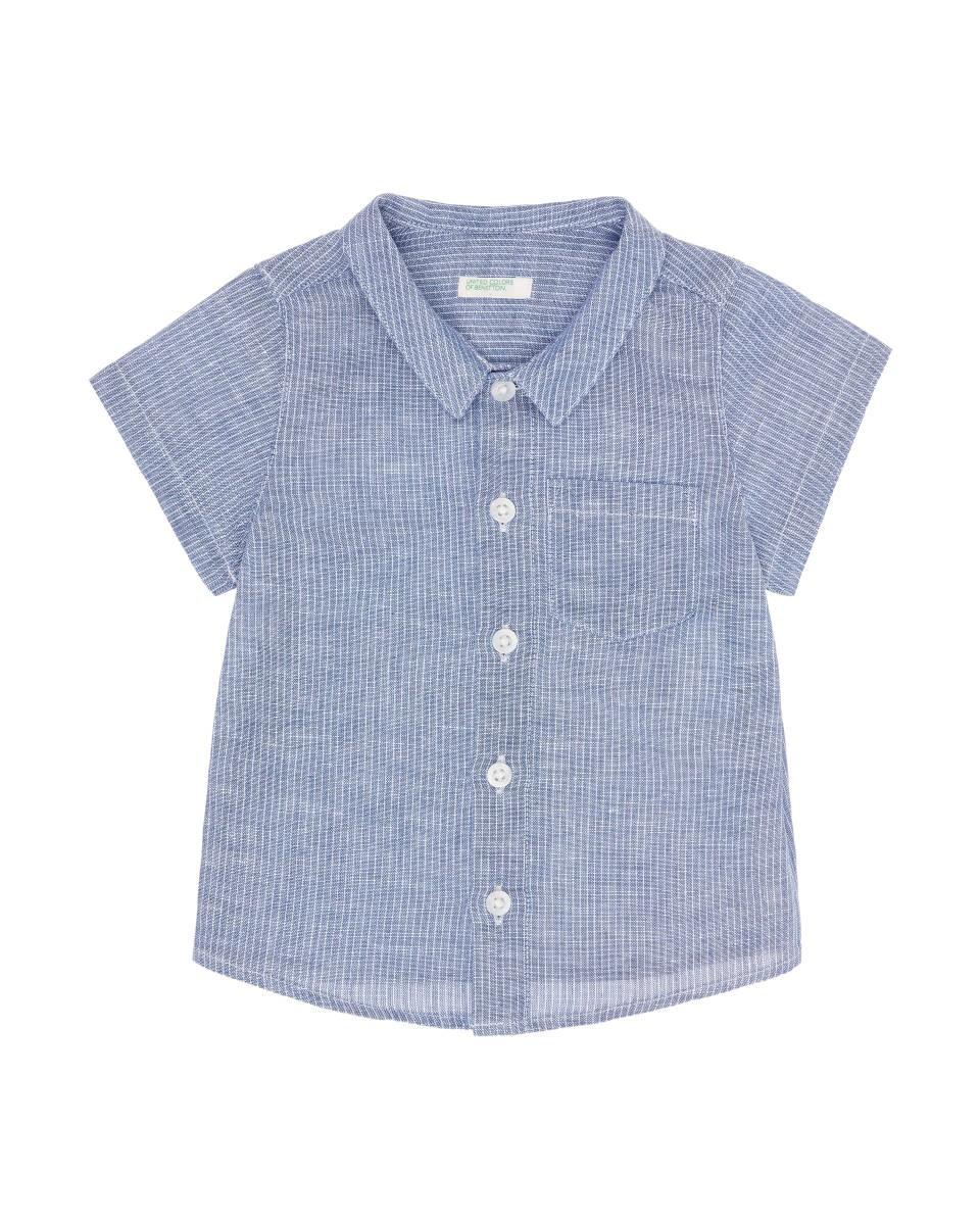 Camicia Neonato in Misto Lino