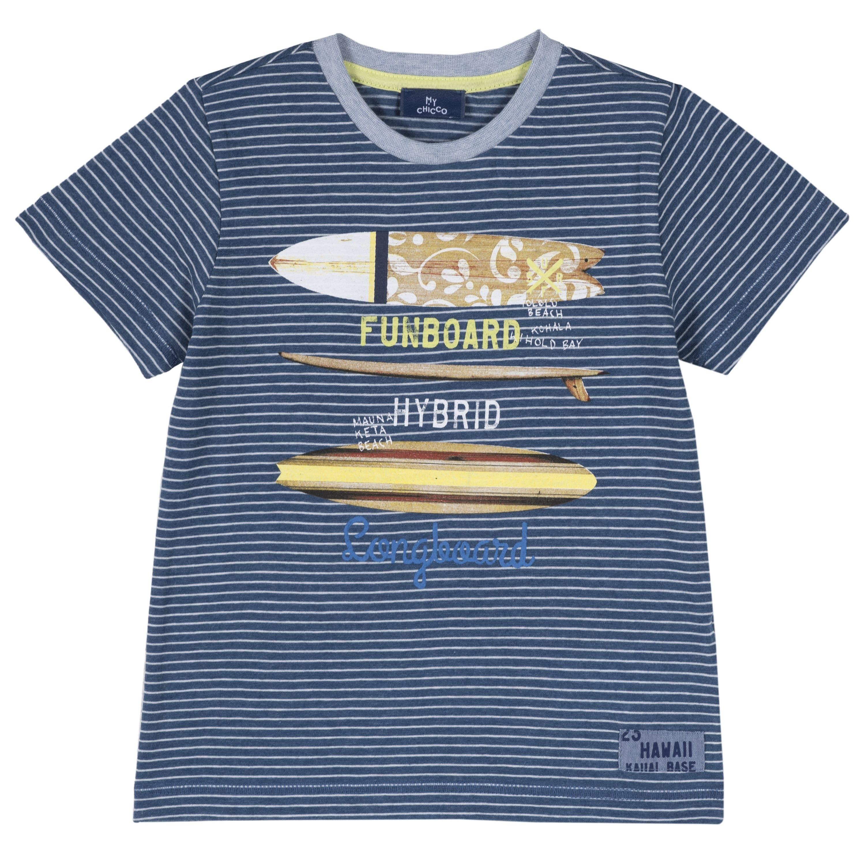 T-shirt Fantasia a Righe e Tavole da Surf